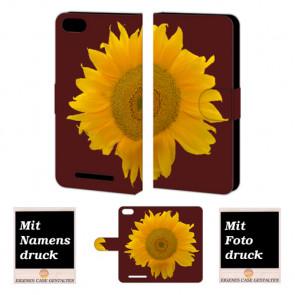Wiko Lenny 3 Sonnenblumen Handy Tasche Hülle Foto Bild Druck