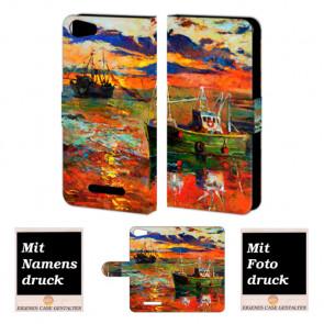 Wiko Lenny 2 Gemälde Handy Tasche Hülle Foto Bild Druck