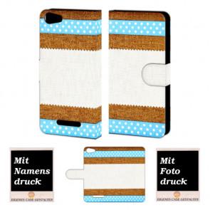 Wiko Lenny 2 Muster Handy Tasche Hülle Foto Bild Druck
