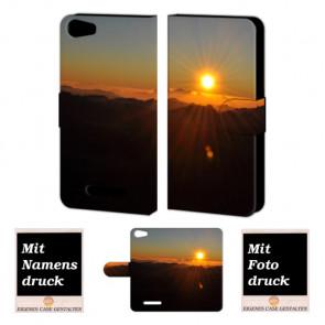 Wiko Lenny 2 Sonnenaufgang Handy Tasche Hülle Foto Bild Druck