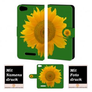 Wiko Lenny 2 Sonnenblumen Handy Tasche Hülle Foto Bild Druck