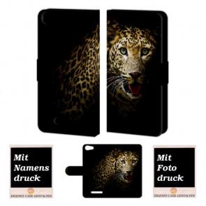 Wiko Lenny 2 Tiger Handy Tasche Hülle Foto Bild Druck