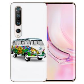 TPU Silikon Hülle mit Fotodruck Hippie Bus für Xiaomi Mi 10 Pro Etui