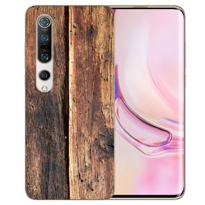 TPU Silikon Hülle mit Fotodruck HolzOptik Xiaomi Mi 10 Pro Etui