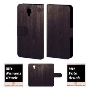 Xiaomi Mi 4 Holz Optik Handy Tasche Hülle Foto Bild Druck