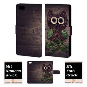 Xiaomi Mi 3 Kaffee Eule Handy Tasche Hülle Foto Bild Druck