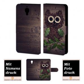 Xiaomi Mi 4 Kaffee Eule Handy Tasche Hülle Foto Bild Druck