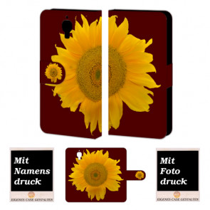 Xiaomi Mi 4 Sonnenblumen Handy Tasche Hülle Foto Bild Druck