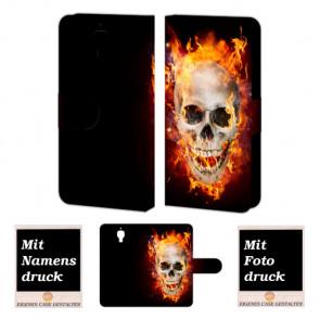 Xiaomi Mi 4 Totenschädel Handy Tasche Hülle Foto Bild Druck