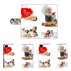 PU Leder-Tasche für Xiaomi Mi5 mit Foto und Text zum selbst gestalten.