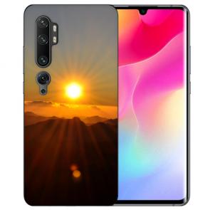 Silikon TPU Hülle mit Fotodruck Sonnenaufgang für Xiaomi Mi CC9 Pro