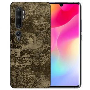 Silikon TPU Hülle für Xiaomi Mi CC9 Pro mit Fotodruck Braune Muster