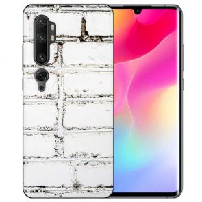 Silikon TPU Hülle für Xiaomi Mi CC9 Pro mit Fotodruck Weiße Mauer