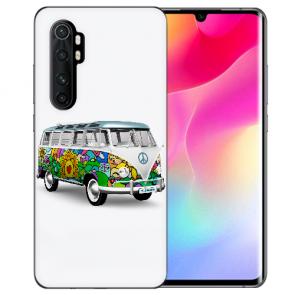 Xiaomi Mi Note 10 Lite Silikon TPU Hülle mit Bilddruck Hippie Bus