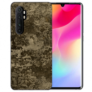 Silikon TPU Hülle mit Bilddruck Braune Muster für Xiaomi Mi Note 10 Lite