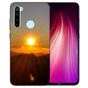 XIAOMI Redmi Note 8 TPU Hülle mit Fotodruck Sonnenaufgang Etui