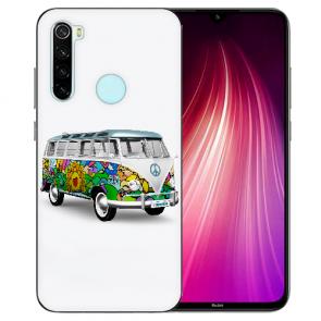 XIAOMI Redmi Note 8 TPU Hülle mit Fotodruck Hippie Bus Etui