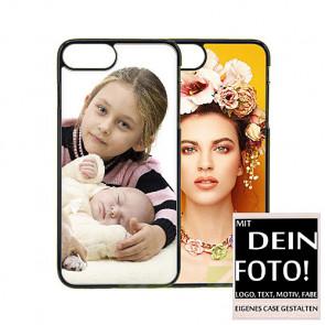2D Hülle für iPhone 7 Hard case mit Foto und Text zum selbst gestalten.